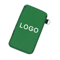 2018 Cheap and simple customizable size logo neoprene laptop phone sleeve