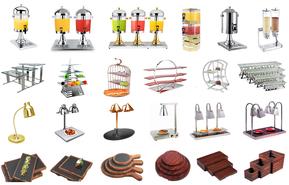 Catering equipment & hotel equipment luxury gold buffet carving lights restaurant heat lamp for food buffet