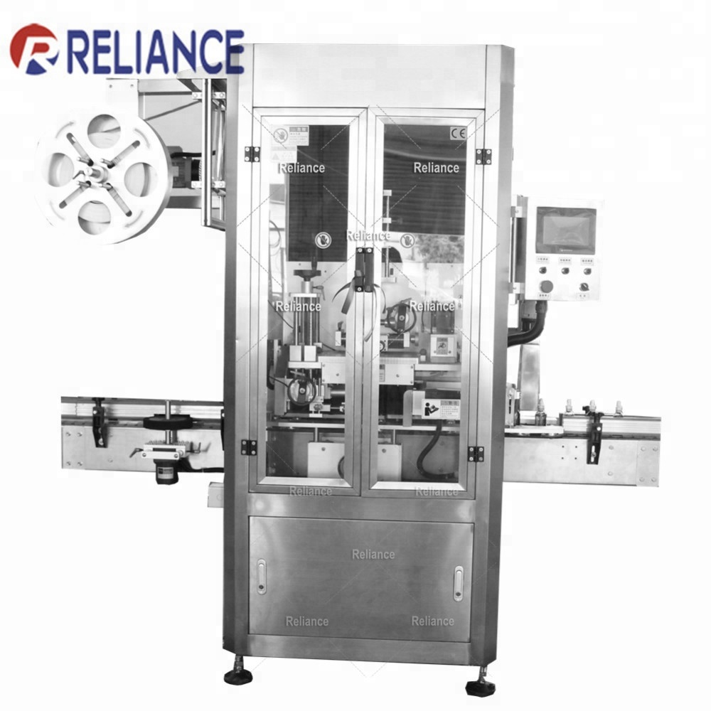 Reliance automatic 30ml glass dropper bottle cap PVC Film band shrink sealing machine, heat wrapping machine