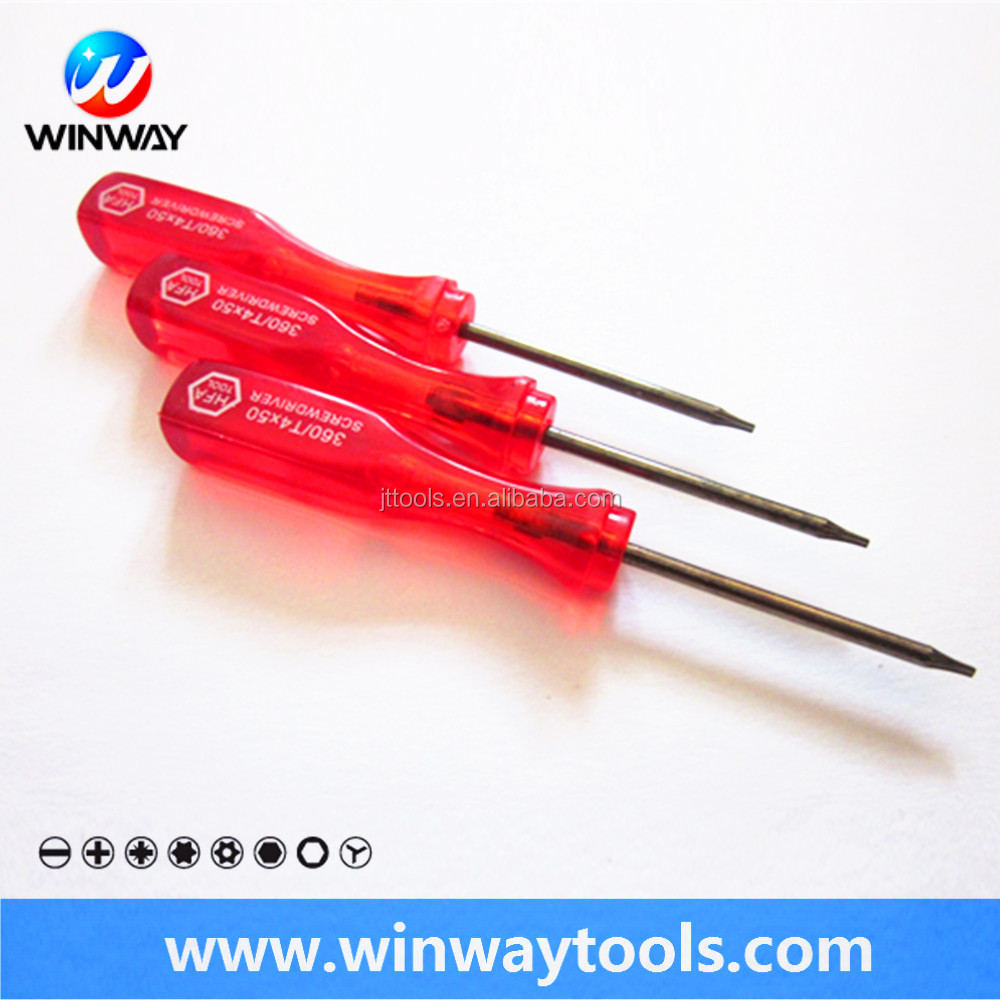 ph head mini pomotional / flat type red transparent plastic handle min screwdriver/customized color mini gift screwdriver