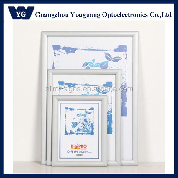 Wall Mount Snap Poster Aluminum Frame Size A0 A1 A2 A3 A4 - Buy ...