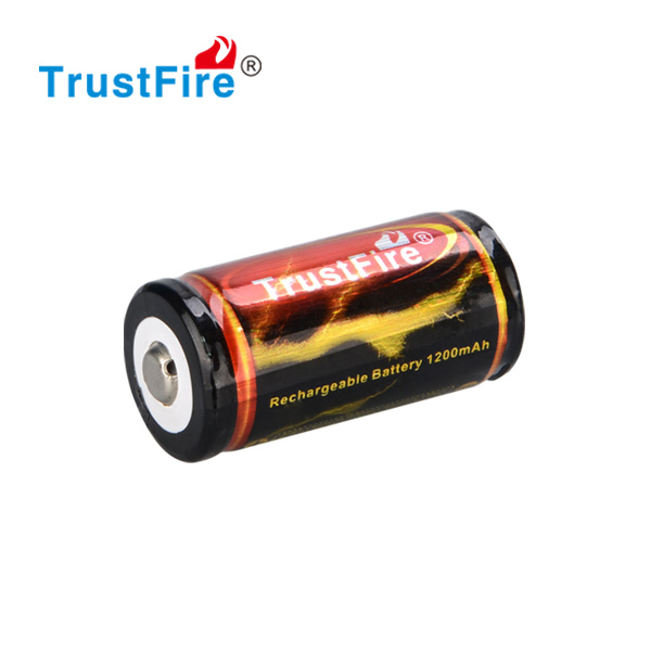 Trustfire portable protected 18350 battery 3.7v 1200mah rechargeable lithium ion battery