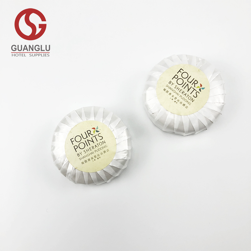 Pleat Wrapped Small Disposable Hotel Soap with Customized Logo