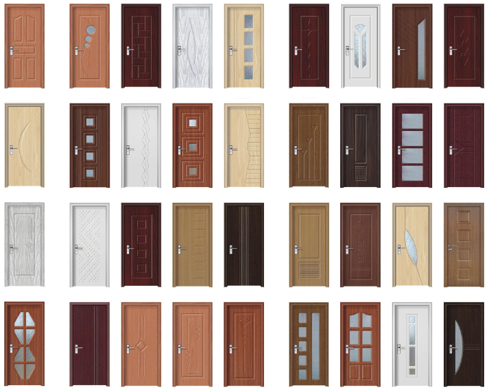 Hot sell latest design wood door design white color modern for Latest door design 2016