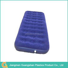Twin size comfortable flocked inflatable air mattress bed.