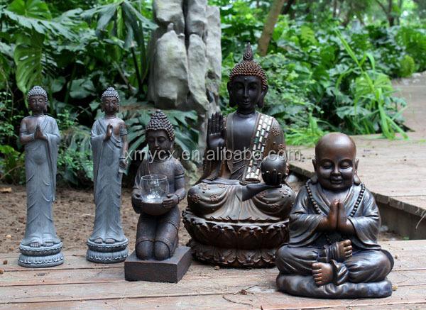 Fiberglass Large Garden Buddha Head In Sculptures