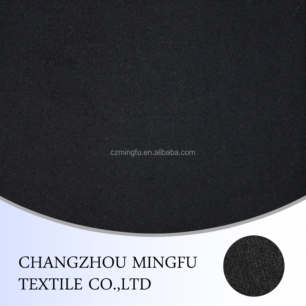 Wholesale black colour 45% Wool 55% cashmere Fabric for Suit in Hopsack