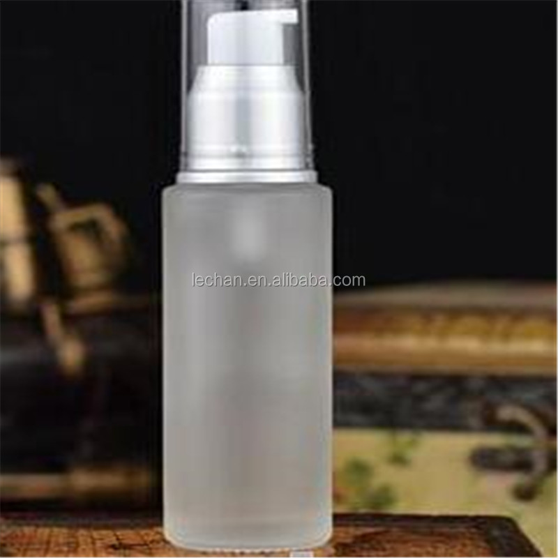 30ml 50ml 100ml Face Cream Cosmetic Packaging Glass Lotion Bottle with Pump Depenser