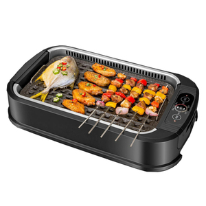 1500W Electric Griddle Pan Hot Pot And Grill Indoor