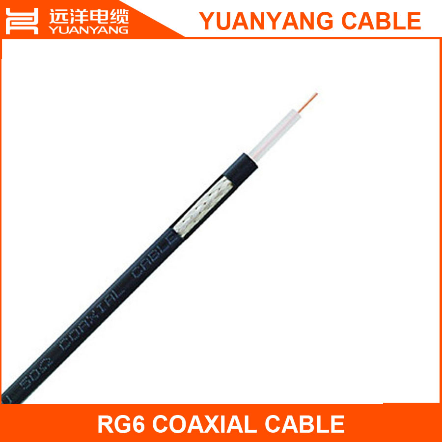 coaxial rj6 cable best sell in 2016 good quality in high quality for LNB dish conect with DVB-S and TV support HD program