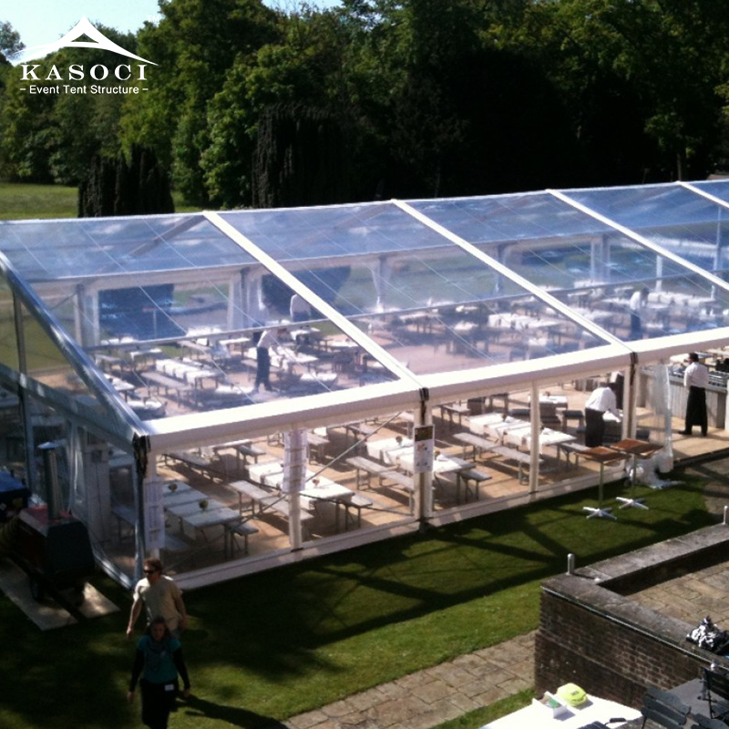 Indian Luxury Large Glass 200 People Clear Roof Marquee Wedding Outdoor Event Grand Tents
