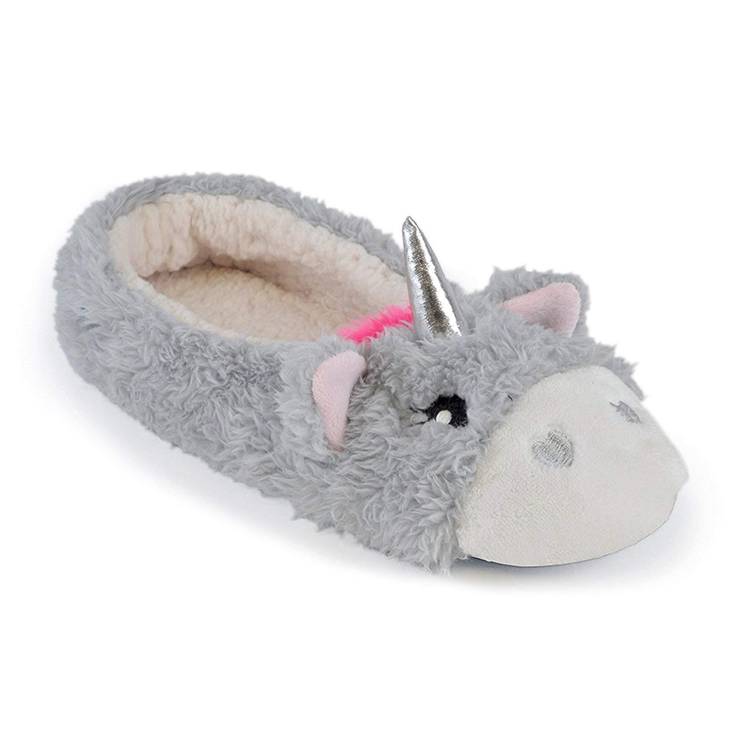 9368935ab922 Get Quotations · Women s Ladies Footwear Unicorn Ballet Slippers with PVC  Dot Sole
