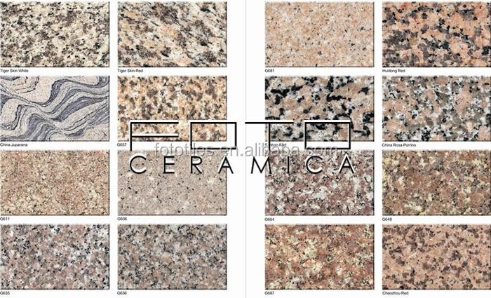 ltimas piedras de varios colores de mrmol natural y granito