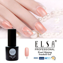 Elsa factory direct hot sell type sea pearl shell gel polish uv nail polish