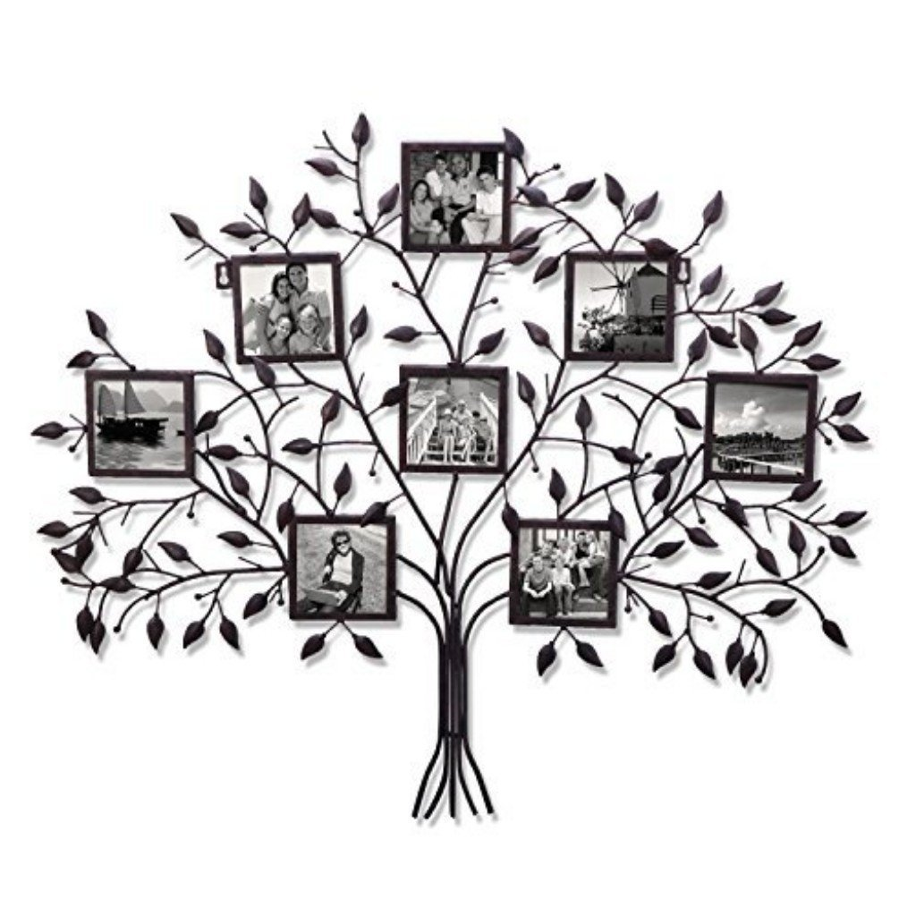 Buy Family Tree Black Metal Wall Hanging Decorative Collage Picture Photo Frame 8 Openings 4x4 Each In Cheap Price On Alibaba Com