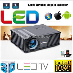 Leeman PH58+ HDMI LED LCD HD projector Video 3D projetor proyector projecteur no need cable connect with phone PC for display