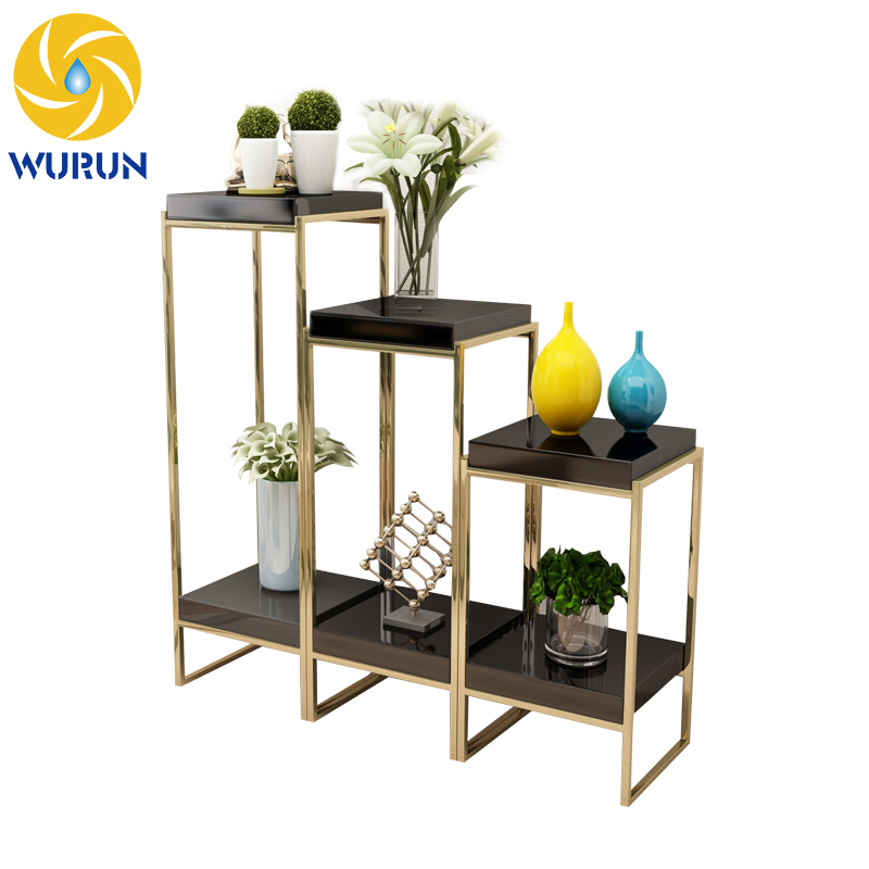 Wholesale Silver Gold Rustproof Metal Stainless Steel Flower Stand