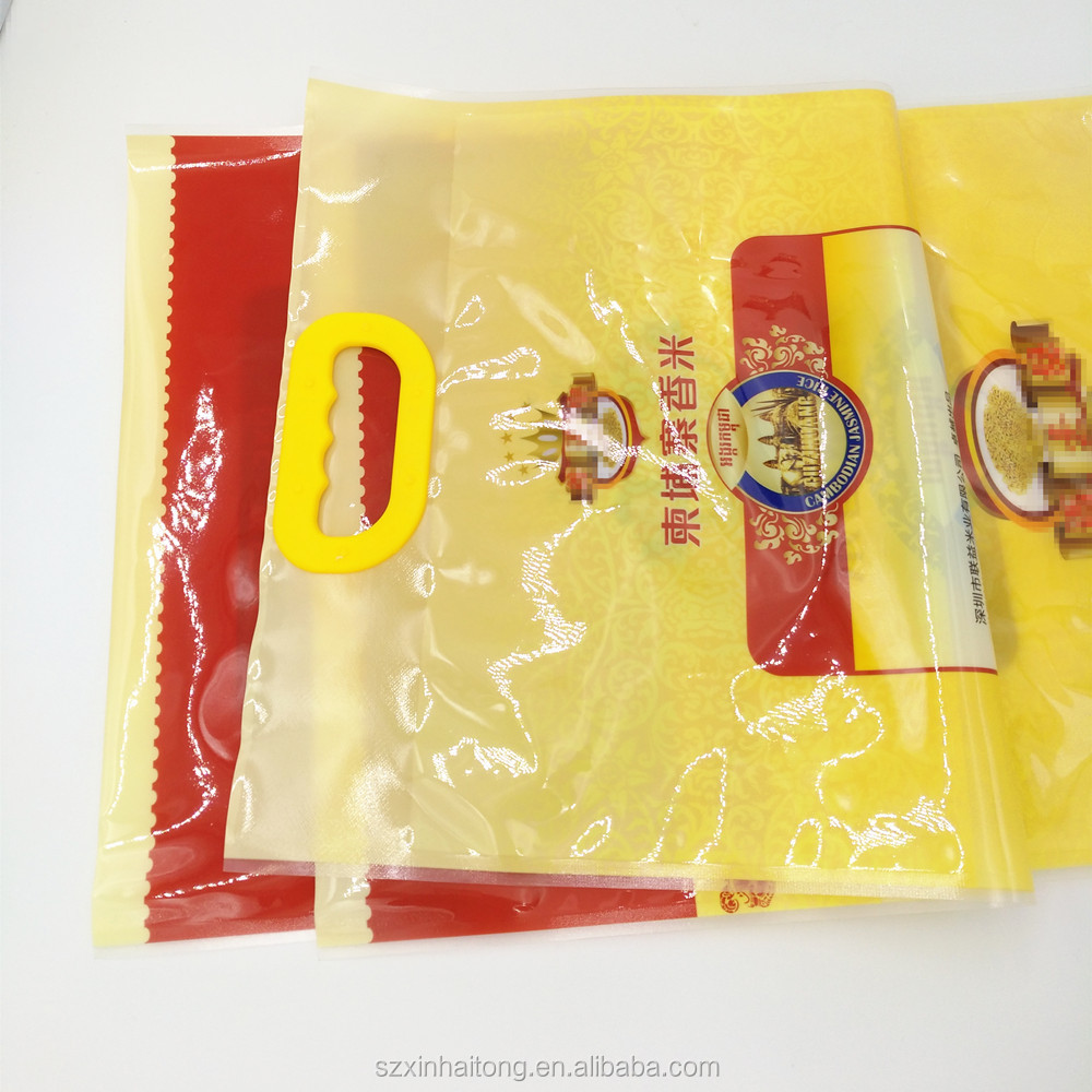 New Products Chinese Packaging Basmati Rice Plastic Bags With Durable Handle 015