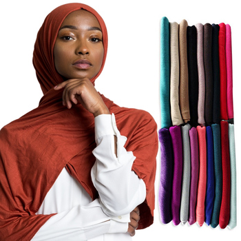 Wholesale Cheap Solid Colors Women Muslim Jersey Scarf Shawl Hijab