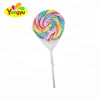 Handmade Giant Rainbow Swirl Round Lollipop