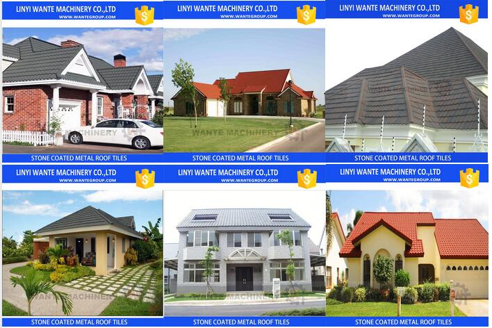 Wholesale Stone Coated Steel Color Roof Tiles With Solar