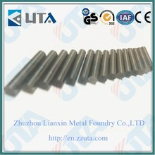 Manufacturer supply K10 tungsten carbide rods/YL10.2 cemented carbide rods with one straight coolant hole