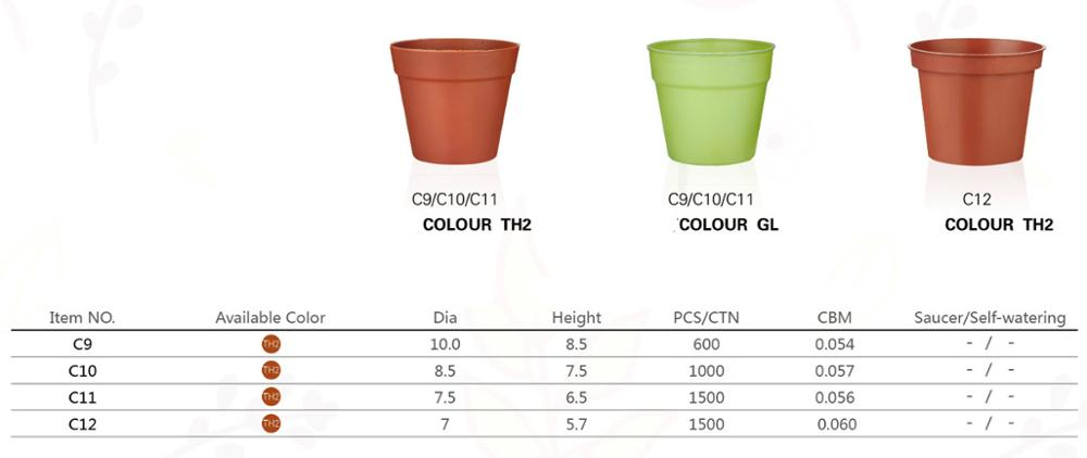 hot table small flower pot for gardening