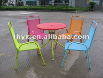 metal children garden furniture setmetal kids table and chair - Garden Furniture Kids