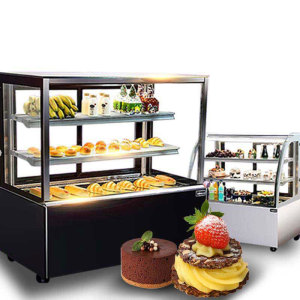 Air Cooling gelato showcase with Anti-fog Function/Custom Glass Door Cake Display Refrigerator/sushi showcase