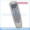 cream DVD remote controller with rubber button