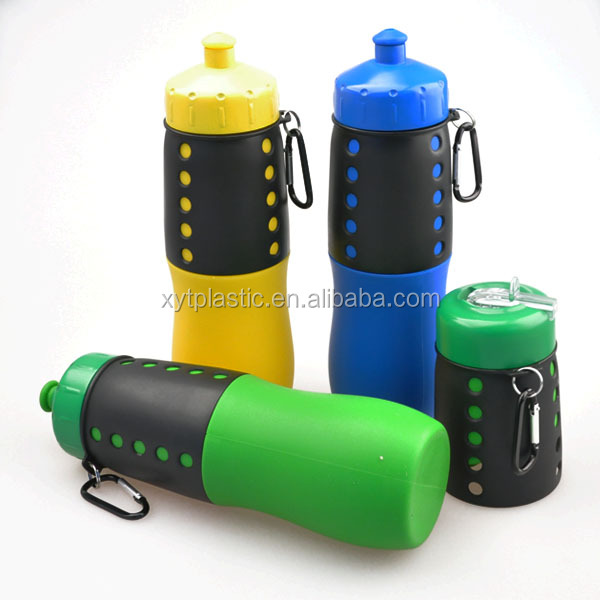 water bottle in silicone material,perfect outdoor gear, water bottle with key chain