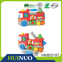 Engliash & Spanish tool truck toy assemble fire engines HN805197