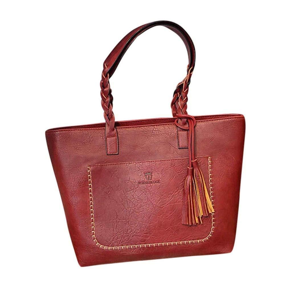 Clearance Deals Women Handbag Shoulder Bag, TOOPOOT Lady Small Tassel Tote Shoulder Messenger Bag