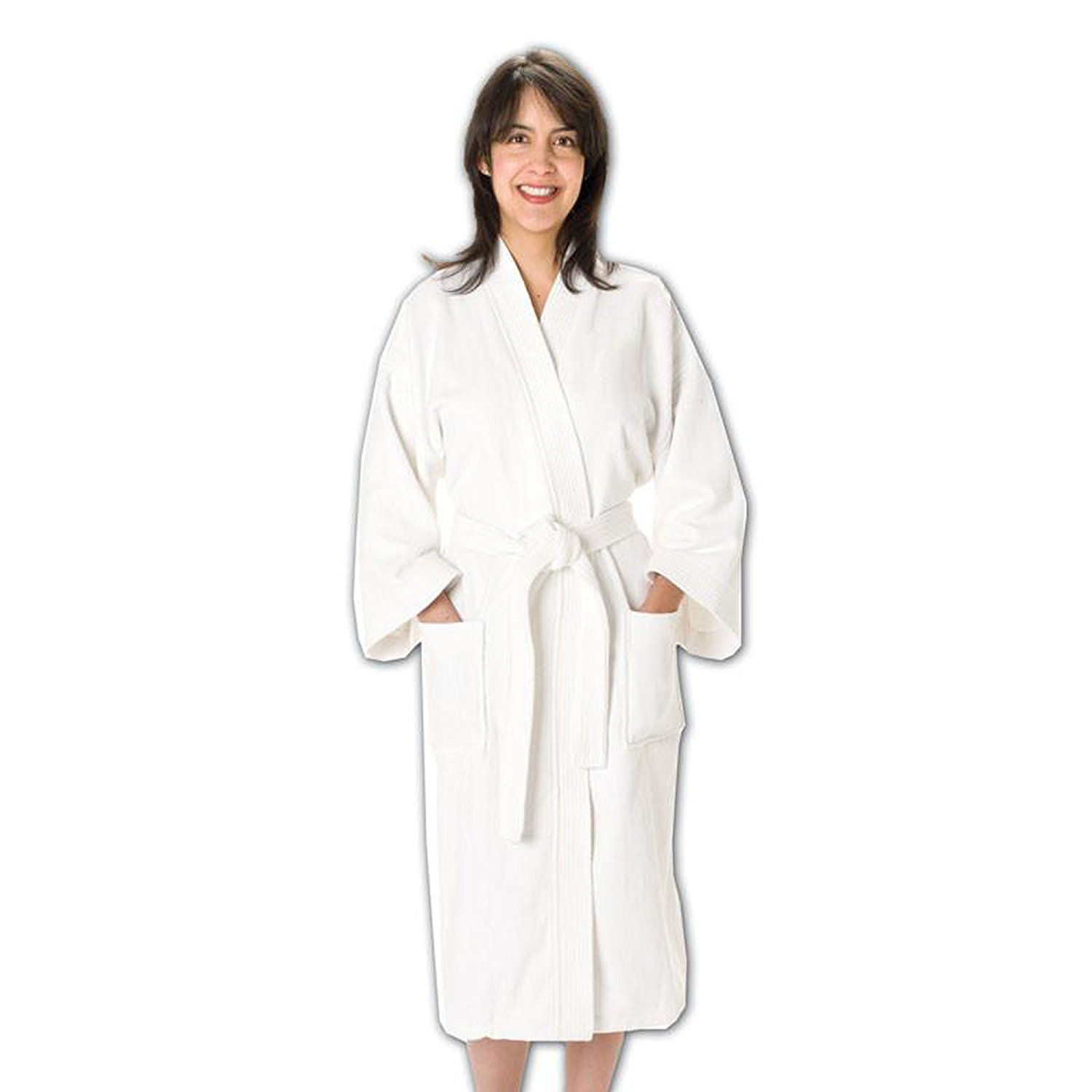 Horcute Cotton Waffle Pattern Bathrobes for Boys and Girls