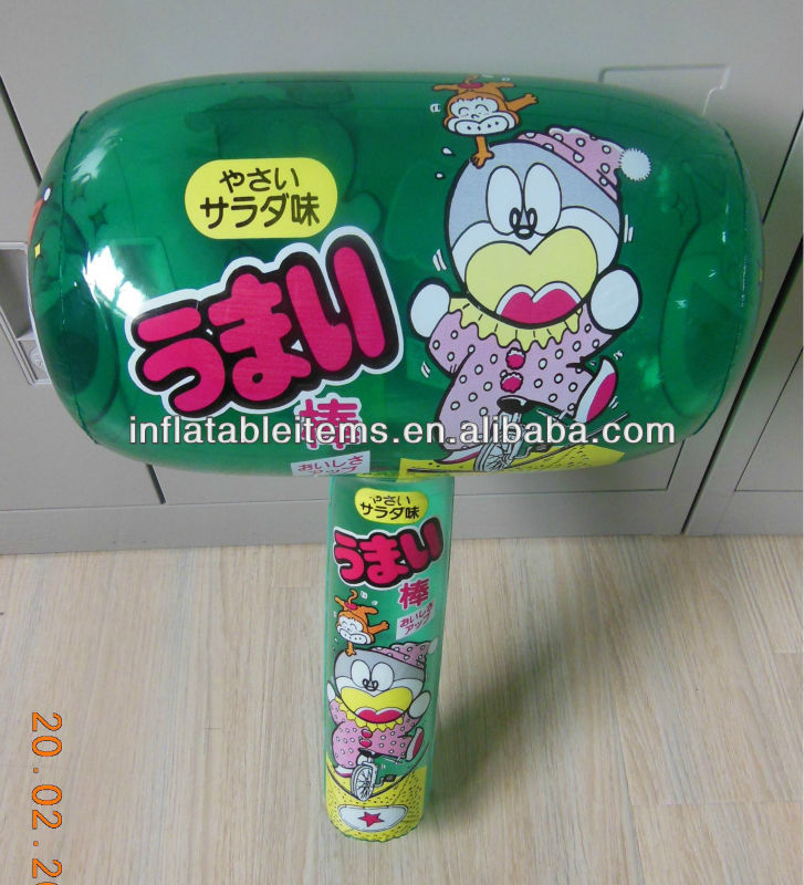 customized big size pvc inflatable hammer toys