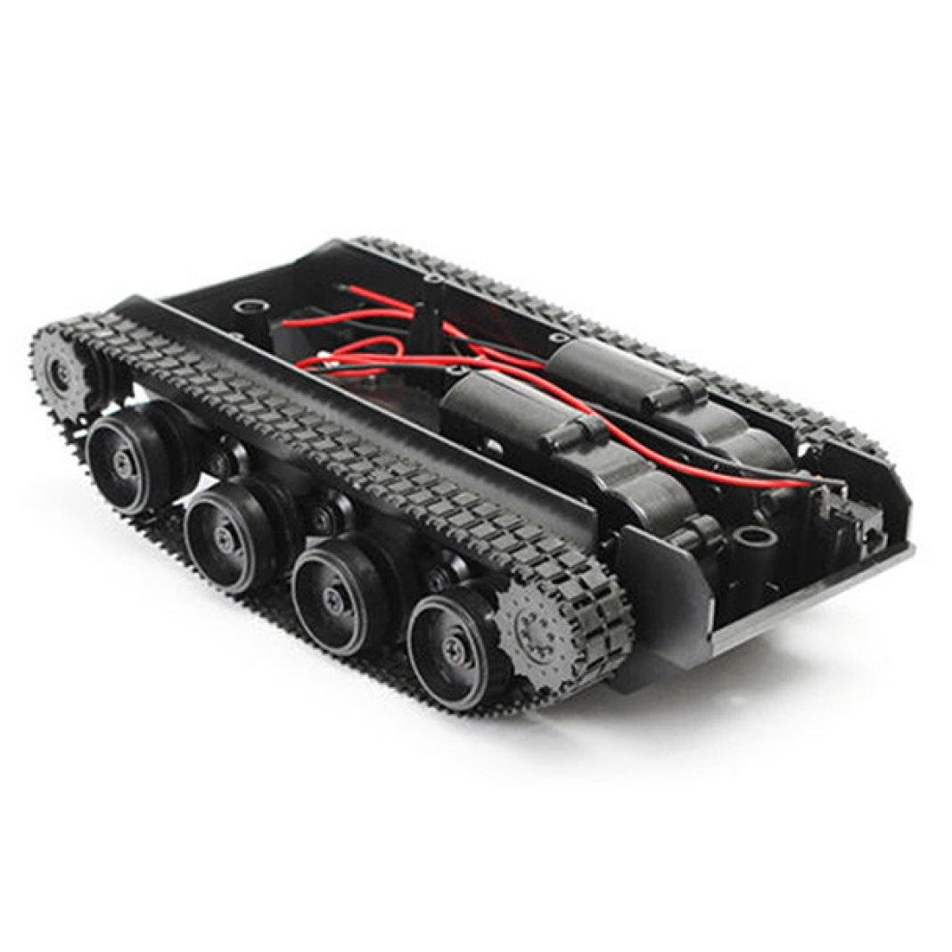 Dreamyth Smart Robot Tank Car Chassis Kit Rubber Track Crawler for Arduino 130 Motor