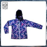 Children's outdoor wear camo jacket colorful coat windbreaker clothing