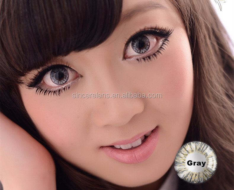 17.2mm Big Diameter Grey Contact Lenses Eyes 3 Tone Colored ...