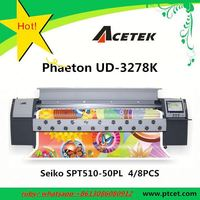 canvas printing 3.2m heavy duty Phaeton UD-3278K solvent inkjet plotter (SPT510-50PL head,best quality)