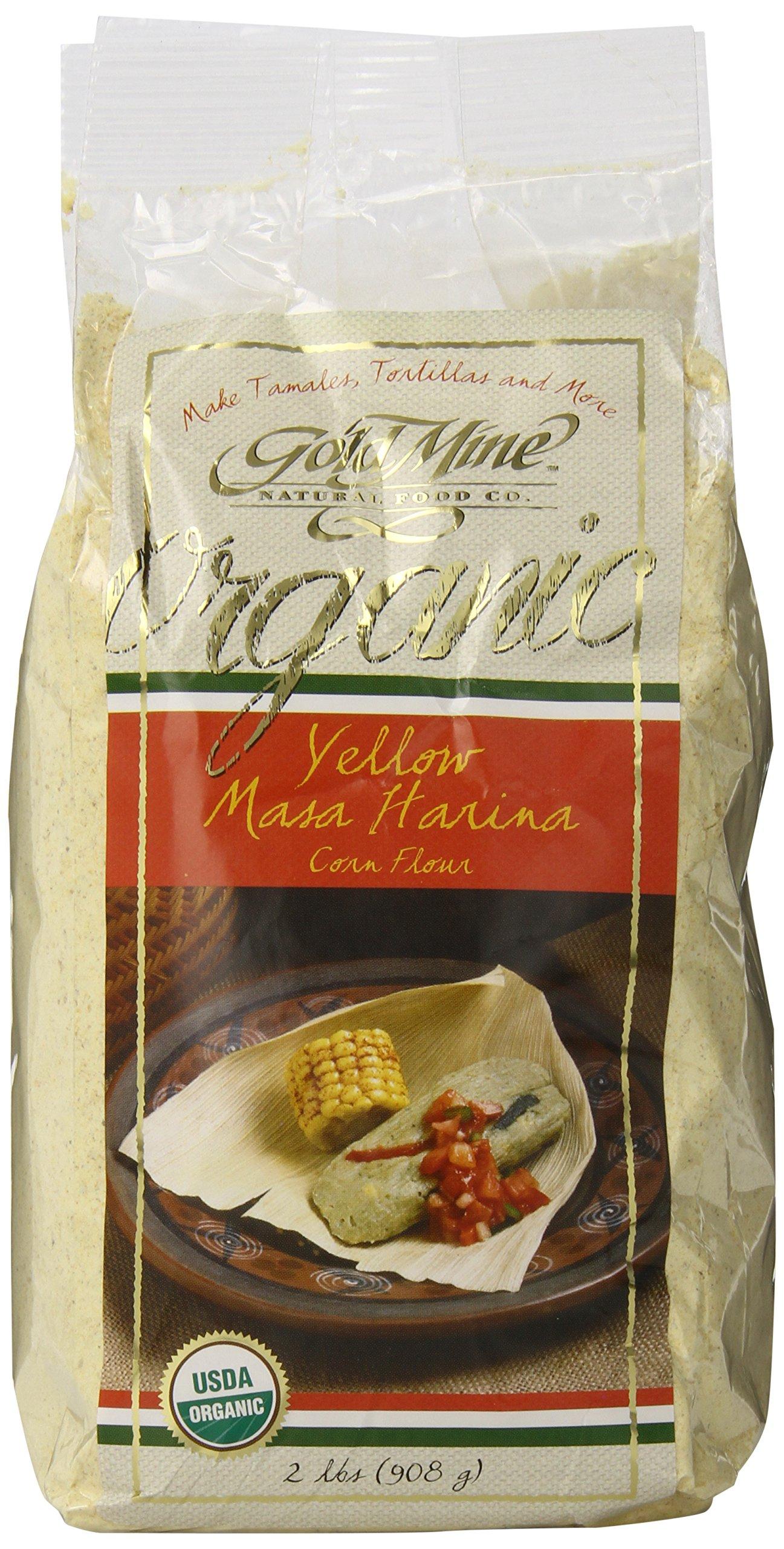 Gold Mine Organic Masa Harina Corn Flour, Yellow, 2 Pound