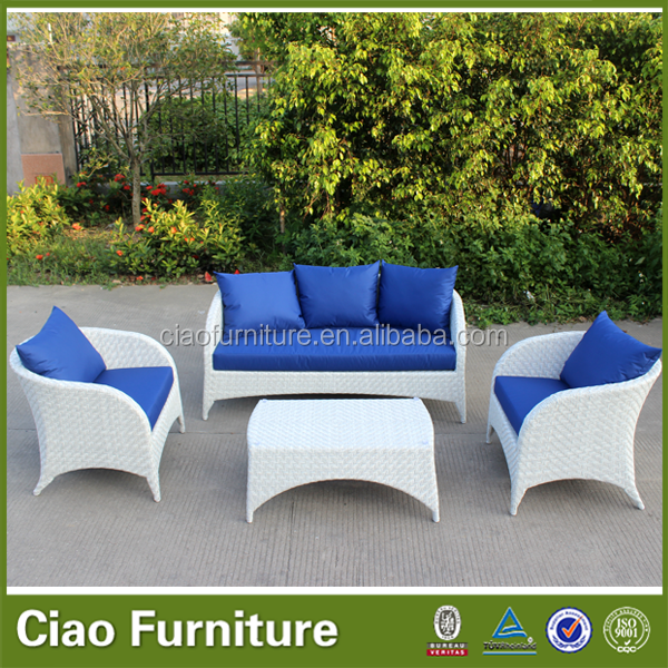 Outdoor furniture white import rattan module sofa