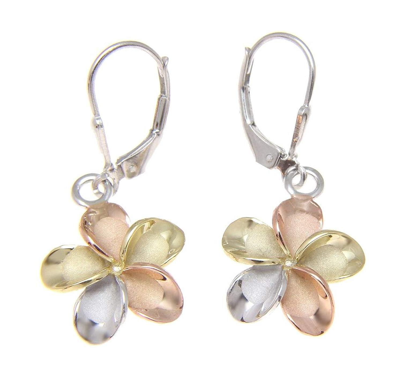 Cheap White Gold Plumeria Earrings Find White Gold Plumeria