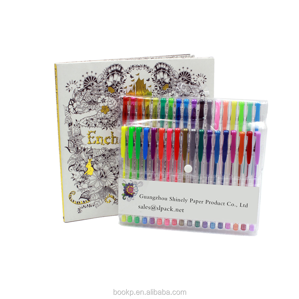 Wholesale custom adult kids children coloring <strong>books</strong> with coloring gel pens or pencils
