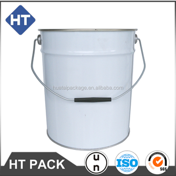 10L printed metal bucket with flower lid handle for paint/chemical