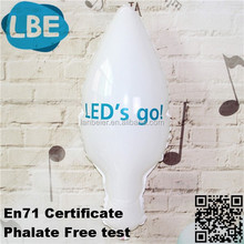 logo printed light bulb balloon