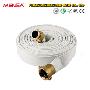 Factory Direct Sale Flexible fire hose fabric With Rubber Lining