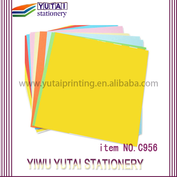 Yutai office impression a4 color copy paper 100gsm