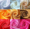 cheap 100% polyester satin fabric for clothes and gift box lining