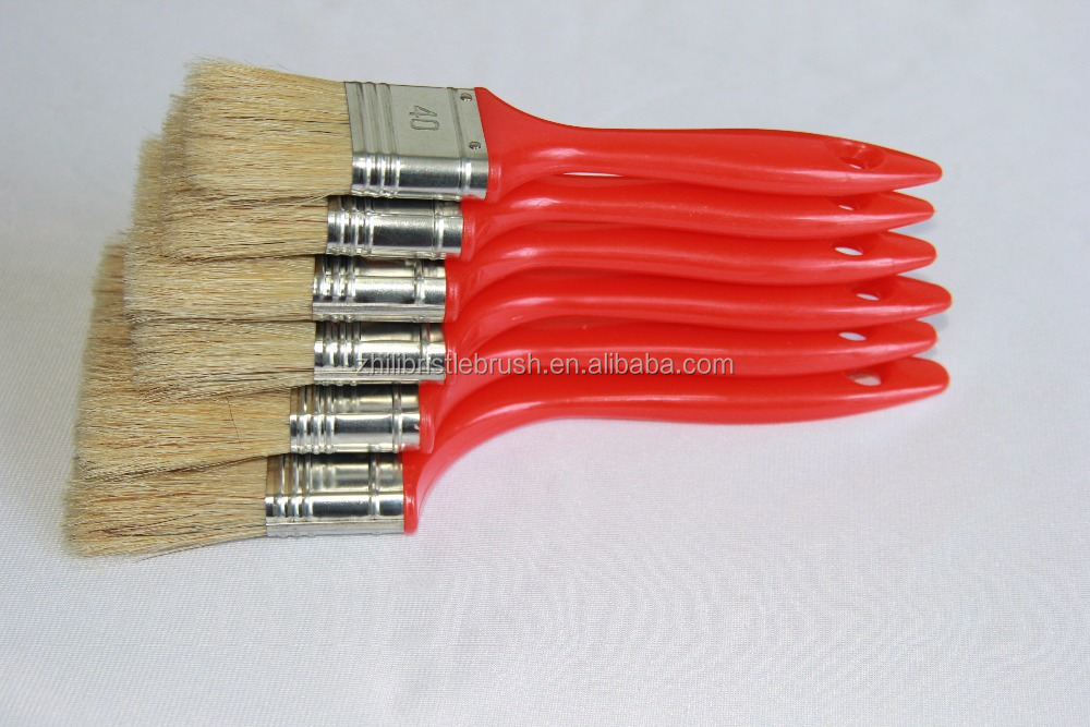 Mixed PET synthetic and bristle Bristle,plastic handle brush