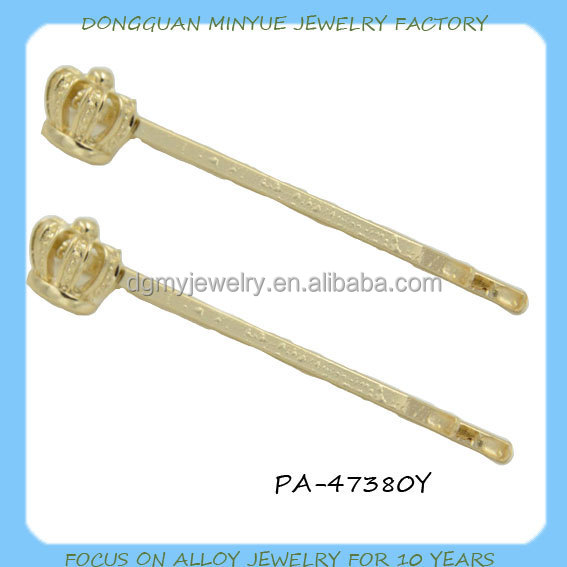 Crown Royal Party Popular Gold Crown Hair Pin on China website